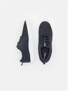 %0 Diğer malzeme (pvc) %0 Tekstil malzemeleri(%50 pamuk,  %50 polyester) Ayakkabı Erkek Bağcıklı Düz Ayakkabı