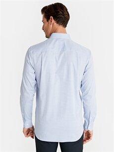 Erkek Regular Fit Ekose Uzun Kollu Poplin Gömlek