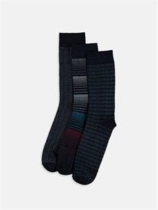 Çok Renkli Soket Çorap 3'lü 9W6873Z8 LC Waikiki