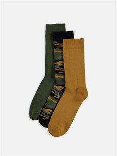 Çok Renkli Soket Çorap 3'lü 9W6944Z8 LC Waikiki