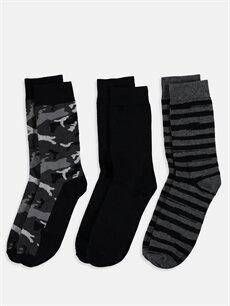 %79 Pamuk %19 Poliamid %2 Elastan  Soket Çorap 3'lü