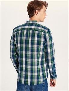 Erkek Regular Fit Ekoseli Uzun Kollu Gömlek