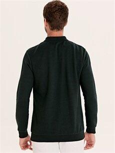 %47 Pamuk %53 Polyester Polo Yaka Uzun Kollu Tişört