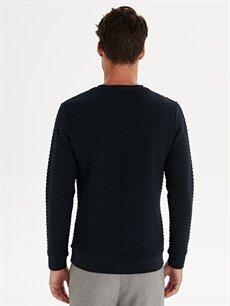 Erkek Slim Fit Desenli Sweatshirt