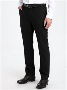 %67 Polyester %2 Elastan %31 Viskoz %100 Polyester  Regular Fit Armürlü Takım Elbise Pantolonu