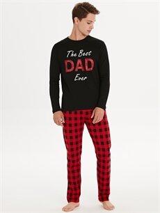 Kırmızı Standart Kalıp Pijama Takım 9W8771Z8 LC Waikiki