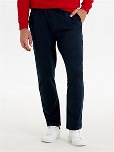 %78 Pamuk %18 Polyester %4 Viskoz Normal Bel Normal Pilesiz Pantolon Rahat Kalıp Pantolon