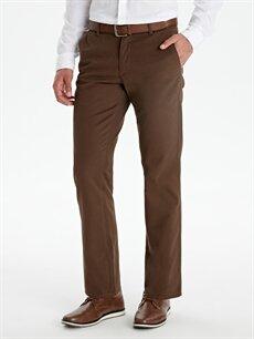 %33 Pamuk %67 Polyester  Standart Kalıp Gabardin Chino Pantolon