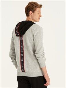 %41 Pamuk %59 Polyester  Regular Fit Kapüşonlu Sweatshirt