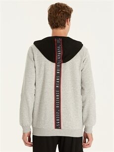 Erkek Regular Fit Kapüşonlu Sweatshirt