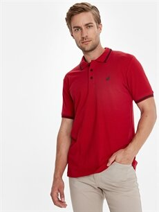%100 Pamuk Düz Standart Kısa Kol Tişört Polo Polo Yaka Kısa Kollu Pike Tişört