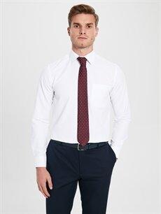 Erkek Regular Fit Armürlü Uzun Kollu Gömlek