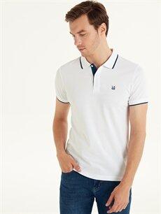 %100 Pamuk Düz Kısa Kol Tişört Polo Standart Polo Yaka Basic Kısa Kollu Pike Tişört