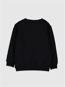 %67 Pamuk %33 Polyester  Erkek Bebek Yazı Baskılı Sweatshirt
