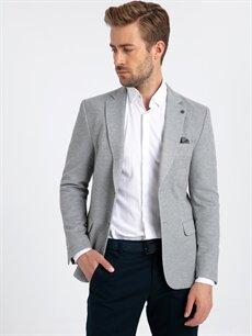 %10 Pamuk %90 Polyester %100 Polyester  Dar Kalıp Blazer Ceket