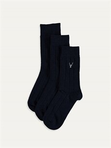Lacivert Soket Çorap 3'lü 9WK983Z8 LC Waikiki
