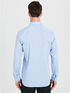 %100 Pamuk Slim Fit Akıllı Kumaş Uzun Kollu Gömlek