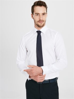 Slim Fit Akıllı Kumaşlı Uzun Kollu Gömlek - LC WAIKIKI