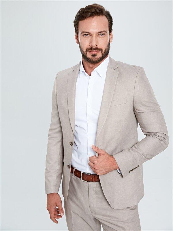 Ekstra Dar Kalıp Desenli Takım Elbise Ceketi - LC WAIKIKI