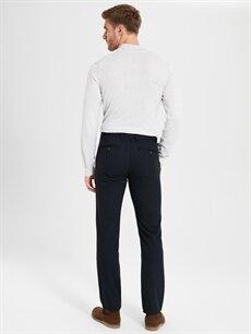 Erkek Standart Kalıp Desenli Pantolon