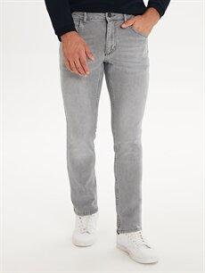 %98 Pamuk %2 Elastan Dar Normal Bel Jean 750 Slim Fit Jean Pantolon