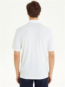 Erkek Polo Yaka Ekose Kısa Kollu Pamuklu Tişört