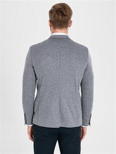 %25 Pamuk %75 Polyester Slim Fit Dokulu Blazer Ceket