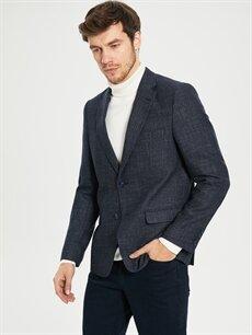 %63 Poliester %21 Yün %3 Akrilik %13 Viskoz %100 Polyester  Standart Kalıp Takım Elbise Ceketi