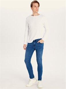 %98 Pamuk %2 Elastan Normal Bel Jean Dar 750 Slim Fit Jean Pantolon