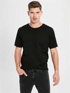 Erkek Bisiklet Yaka Kısa Kollu Oversize Tişört
