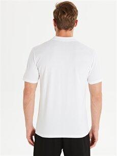 %50 Pamuk %50 Modal Çizgili Standart Kısa Kol Tişört Polo Polo Yaka Desenli Aktif Spor Tişört