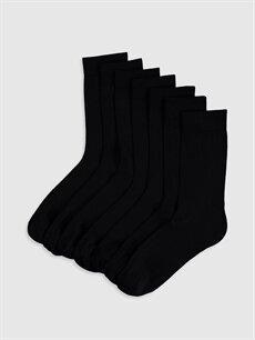 Siyah Soket Çorap 7'li 9WU018Z8 LC Waikiki