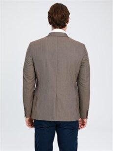 %81 Poliester %18 Viskoz %1 Elastan Dar Kalıp Blazer Ceket