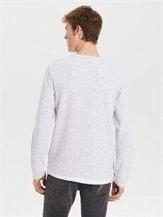 %67 Pamuk %33 Polyester Bisiklet Yaka Kalın Sweatshirt