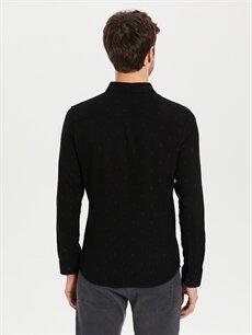 Erkek Siyah Dar Gömlek