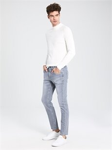 Gri 750 Slim Fit Jean Pantolon 9WY308Z8 LC Waikiki