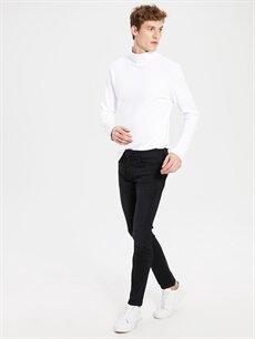%77 Pamuk %20 Polyester %3 Elastan Normal Bel Dar Jean 760 Skinny Fit Jean Pantolon