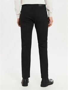 %71 Pamuk %26 Polyester %3 Elastan Normal Bel Dar Pilesiz Pantolon