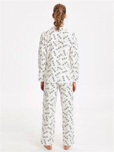 %100 Pamuk Standart Pijamalar Yazı Baskılı Pamuklu Pijama Takımı