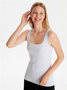 %50 Pamuk %46 Polyester %4 Elastan Standart İç Giyim Pamuklu Esnek Atlet