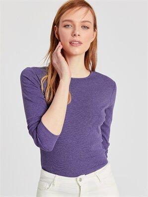 Uzun Kollu Basic Tişört - LC WAIKIKI