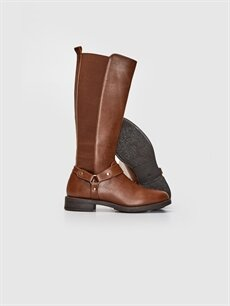 Tekstil malzemeleri Diğer malzeme (poliüretan) Tekstil malzemeleri Diğer malzeme (poliüretan)  Kadın Toka Detaylı Uzun Çizme
