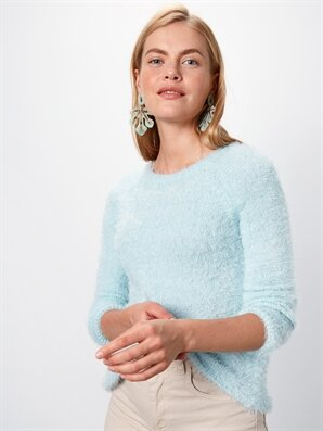 Tüylü Triko Kazak - LC WAIKIKI