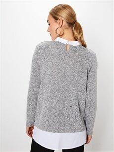 %55 Polyester %42 Viskoz %3 Elastan Yaka Detaylı Hamile Tişört