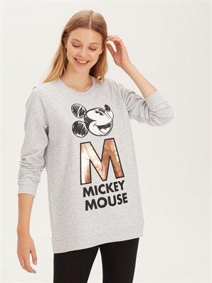 Mickey Mouse Baskılı Pijama Üst - LC WAIKIKI