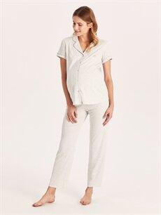 %63 Polyester %34 Viskon %3 Elastan İç Giyim Hamile Pijama Takımı