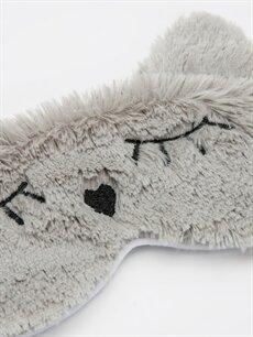 %100 Polyester  Pelüş Uyku Maskesi