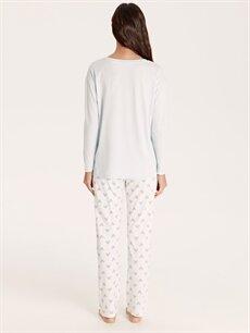 Kadın Mickey Mouse Lisanslı Pamuklu Pijama Takımı