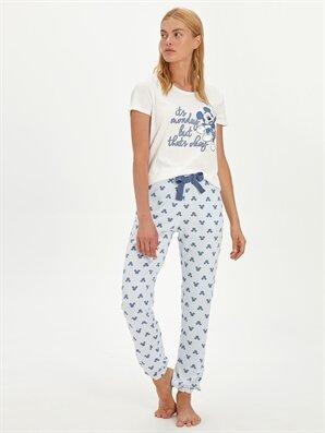 Mickey Mouse Baskılı Pamuklu Pijama Takımı - LC WAIKIKI