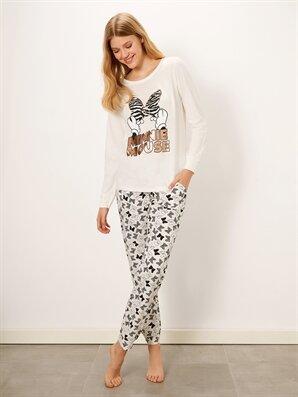 Minnie Mouse Baskılı Pamuklu  Pijama Takımı - LC WAIKIKI